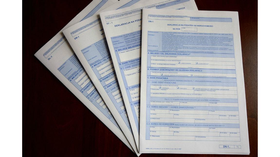 Od 1 lipca 2019 r. obowiązują jednolite wzory deklaracji i informacji na podatki lokalne