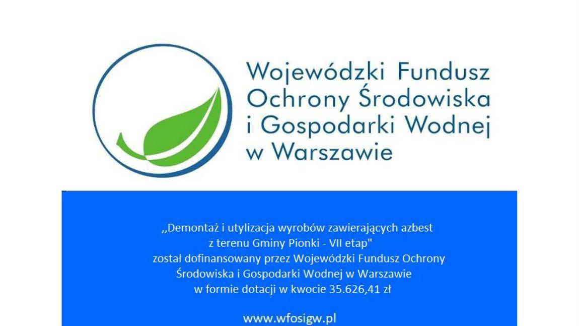 Dofinansowanie na usuwanie wyrobów zawierających azbest na terenie województwa mazowieckiego